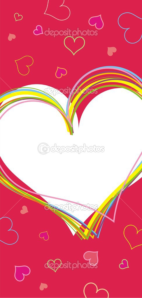 Valentine background. Vector illustration. — Stock Vector #2284592
