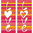 Abstract love backgrounds — Stok Vektör