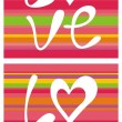 Abstract love backgrounds — Image vectorielle