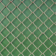 Metal mesh on green background — Stock Photo #2429975