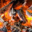 Fire with wood and charcoal — Stock Photo