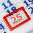 Calendar  25th december - Stock Photo