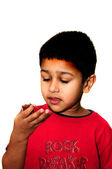 Eating Candy — Stock Photo