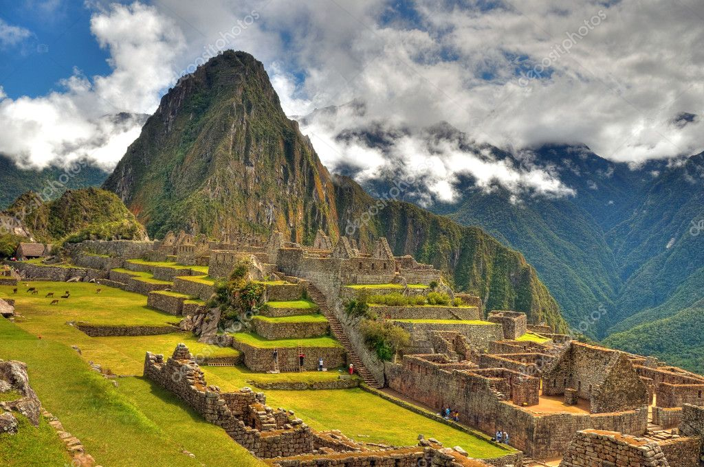 Georgeous MAchu Picchu one of the modern seven wonders of the world  Stock Photo #1875031