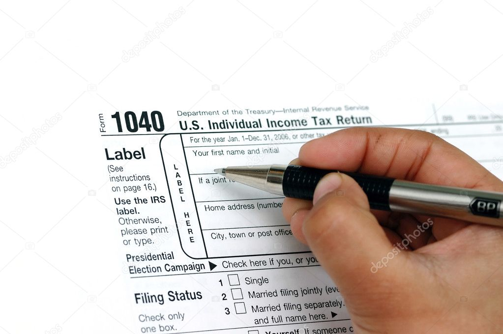 Filing your individual US tax return 1040 — Stock Photo #1947592