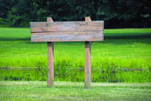 Wooden Sign — Stock Photo