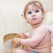 Stock Photo: Little baby angel with wings