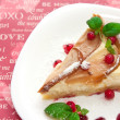 Pear and cottache cheese pie — Stok fotoğraf