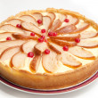 Pear and cottache cheese pie — Stock Photo