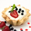 Royalty-Free Stock Photo: Delicious tart with berries and cream