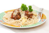 Spaghetti with bolognese sauce — Stock Photo
