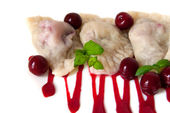 Cherry dumplings — Stock Photo