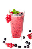 Red and black currants smoothie — Stock Photo
