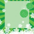 Stock Vector: Green christmas frame (card)