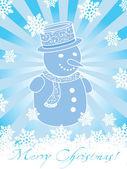 雪人圣诞卡片 — 图库矢量图片