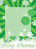 Green christmas frame (card) — Stock Vector