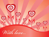 Wallpaper with hearts — Stock Vector