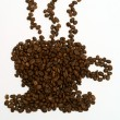 Royalty-Free Stock Photo: Coffee beans make the image of cup