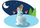 The vector snowman — Stock Photo