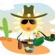 Vector camomile the sheriff — Stock Vector
