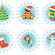 Royalty-Free Stock Vector Image: Vector icon set for christmas
