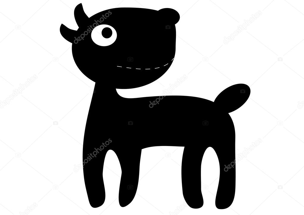 Black-and-white puppy — Stock Vector © Alekksall #2592679