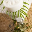 Coconut oil for alternative therapy — 图库照片