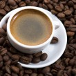 Fresh coffee with coffee — Stock Photo