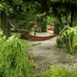On the hammock - Stockfoto