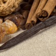Royalty-Free Stock Photo: Vanilla, cinnamon sticks and other spices and in