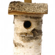 Isolated birdhouse nestles - Stock Photo