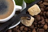 Aroma coffee with vanilla — Stock Photo