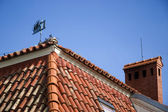 Red tiled roof — Stock Photo