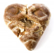 Heart-shape cookies on white background — Stock Photo