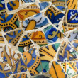 Detail of the ceramics from the Guadi bench — Stock Photo