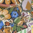 Detail of the ceramics from the Guadi bench - Stock Photo