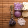 Lavender bath items. aromatherapy — Stock Photo #1776006