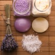 Lavender bath items. aromatherapy — Stock Photo #1776016