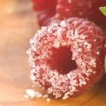 Sweet raspberries, cinnamon and fresh mint — Stock Photo #1776860