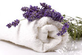 Lavender bath — Stock Photo
