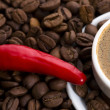 Hot coffee with chili — Stock Photo #1794552