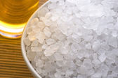 Bath salt and oil — Stock Photo