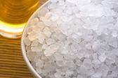 Bath salt and oil — Stock Photo