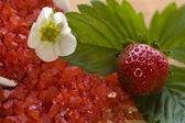 Spa composition with strawberry — Stock Photo