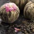 Green chinese tea balls — Stock Photo #1940458