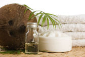 Coconut oil for alternative therapy — Stock Photo
