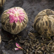 Green chinese tea balls — Stock Photo #2000032