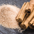 Aromatic spices with brown sugar — Stock Photo #2030390