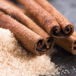 Aromatic spices with brown sugar — Foto de Stock