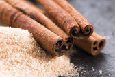 Aromatic spices with brown sugar — Stock Photo
